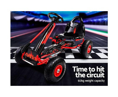 Rigo Kids Pedal Go Kart Red SPEEDY with Free Customized Plate