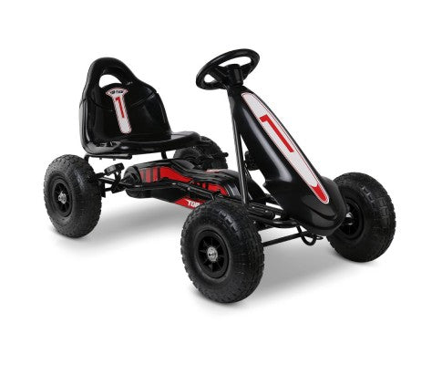 Rigo Kids Pedal Go Kart Black with Free Customized Plate