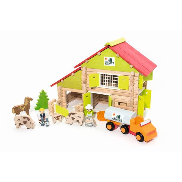 Farm - 180 Piece Wooden Construction Set - Roleplay - Jeujura - kidstoyswarehouse