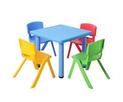 5 Piece Kids Table and Chair Set - Blue by Keezi