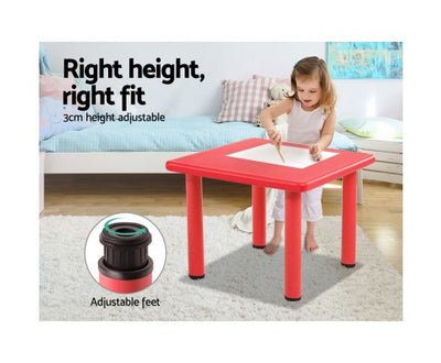 5 Piece Kids Table and Chair Set - Red by Keezi