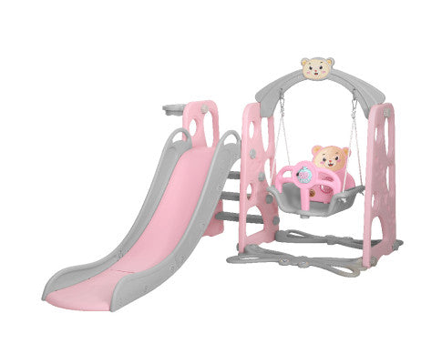 Slide Swing Basketball Hoop Play Set Pink by Keezi