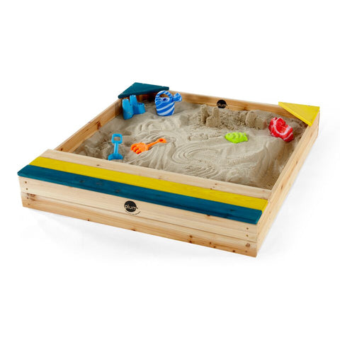 Store-It Wooden Sand Pit (Natural) by Plum Play