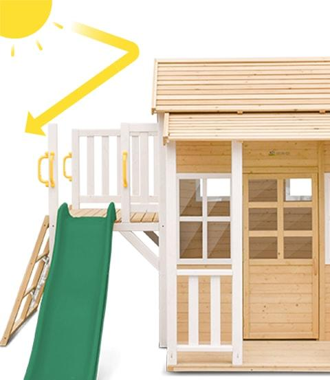 Lifespan Kids Finley Cubby House with Green Slide