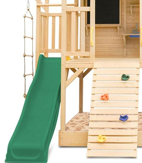 Lifespan Kids Kingston Cubby House with Green Slide