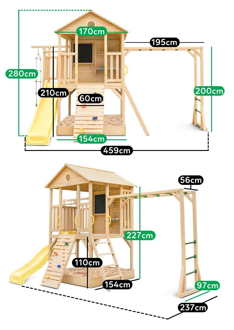 Lifespan Kids Kingston Cubby House with Yellow Slide