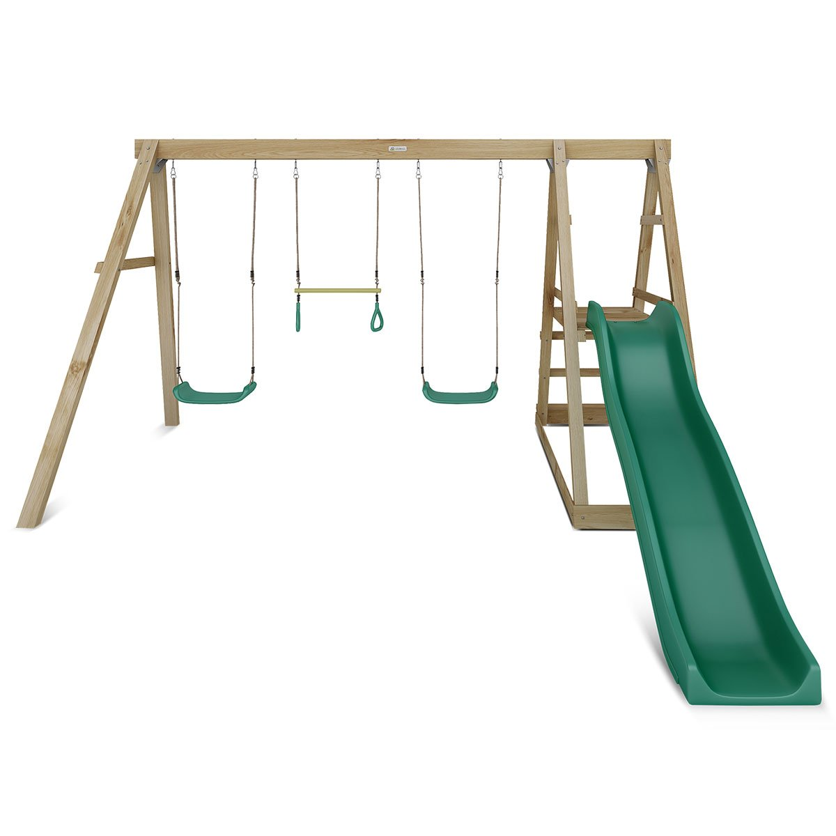 Lifespan Kids Winston 4-Station Timber Swing Set with Slide