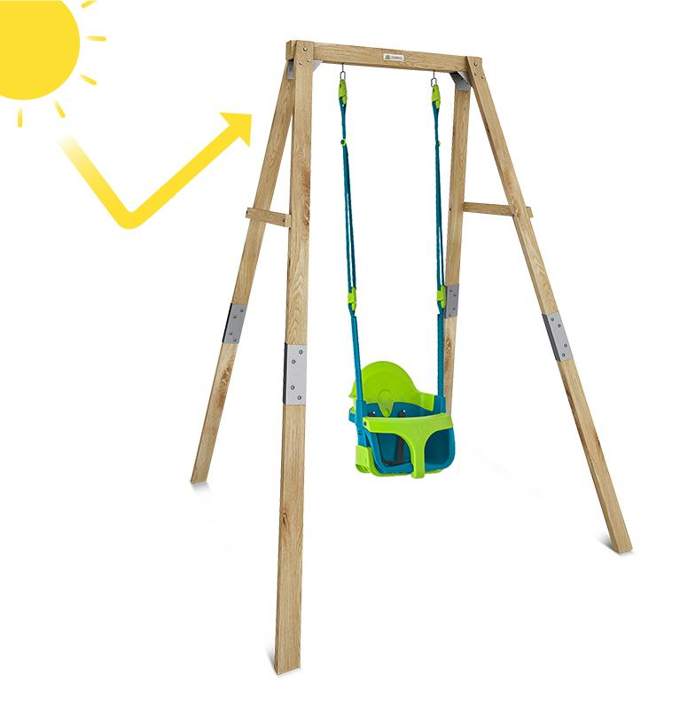 Lifespan Kids Bloom Growable Swing Set with Quadpod® Baby Swing Seat