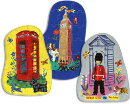 London 3 Wood Puzzles by Nathalie Lete