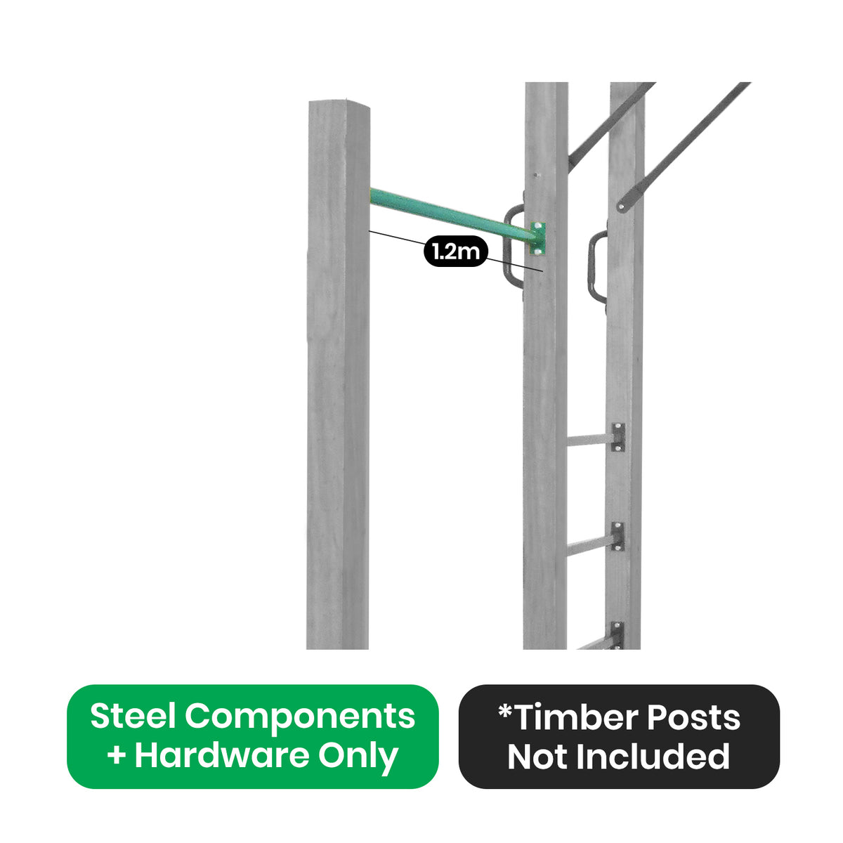Lifespan Kids Amazon Monkey Bars Swing Bar only (1.2m)