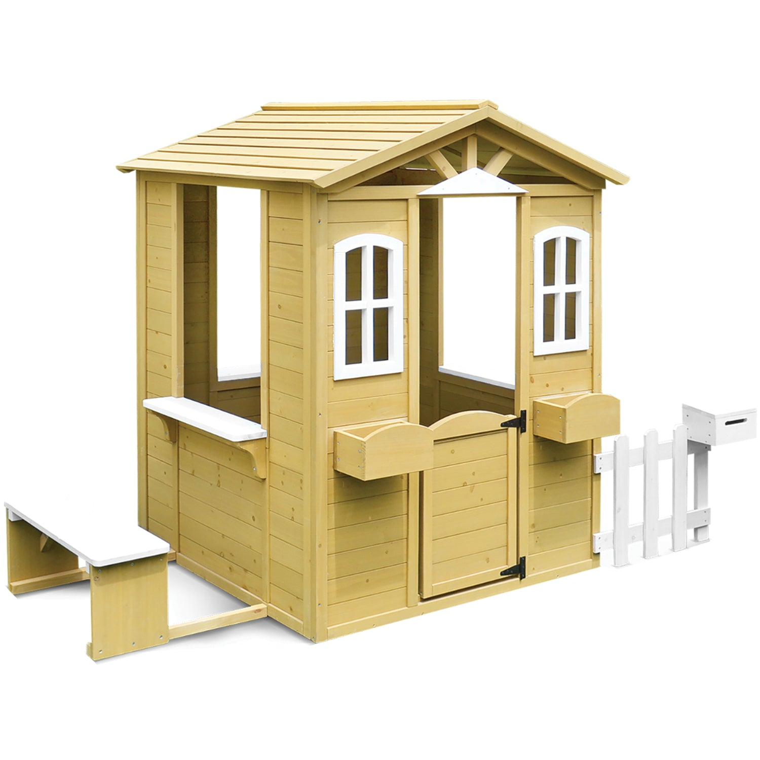 Lifespan Kids Teddy Cubby House with Picket Fence and Floor