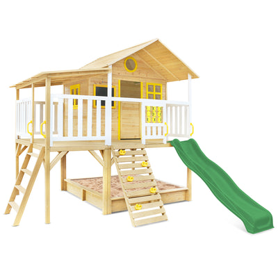 Lifespan Kids Warrigal Cubby House with Pergola (Green Slide)