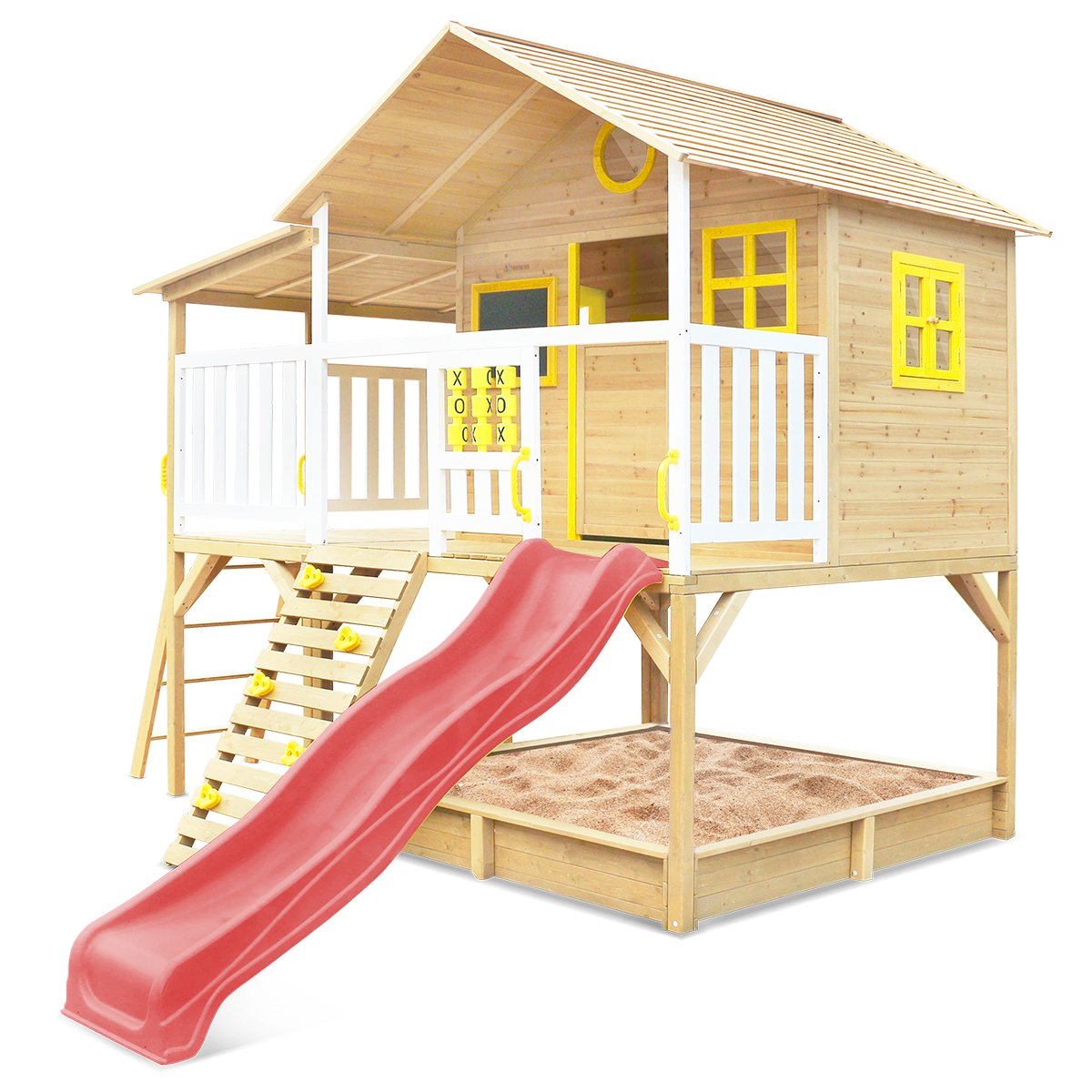 Lifespan Kids Warrigal Cubby House with Pergola (Red Slide)