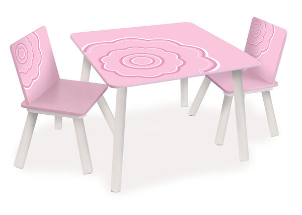 P'kolino Classically Cool Table and Chairs - Flower Blossom