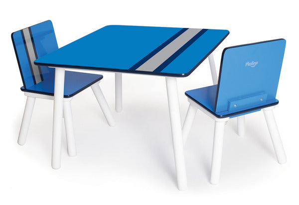 P'kolino Classically Cool Table and Chairs - Racing Stripes