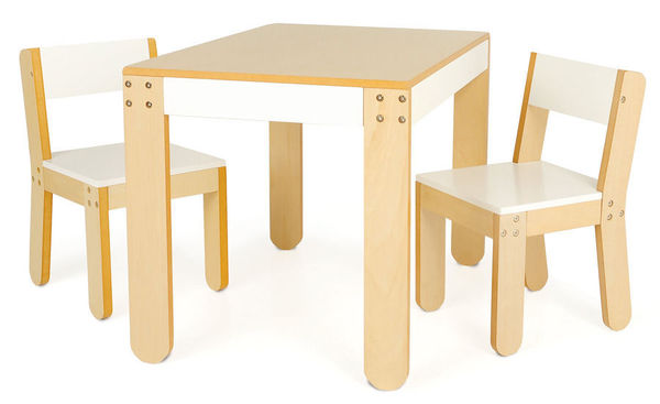 Little One's Childrens Table and Chairs - White