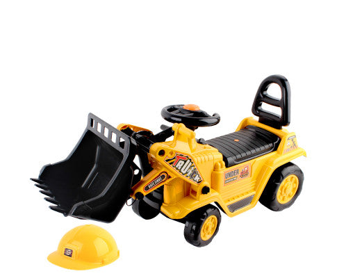 Kid's Pretend Play Ride On Loader Digger Bulldozer - Yellow