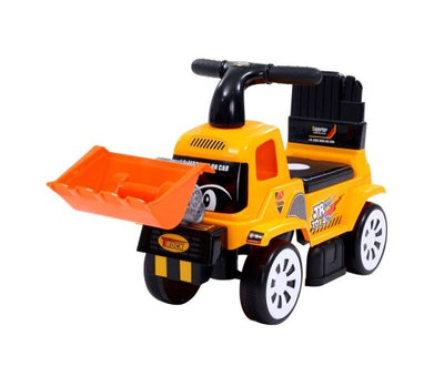 Kids Ride Truck Bulldozer Digger - Yellow with Free Customized Plate