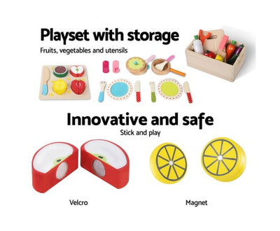 Wooden Food Play Set 29 Piece by Keezi