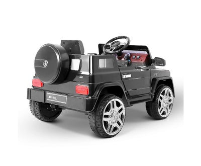Rigo Kids Ride On Car (Mercedes Benz AMG G50 Replica)- Black with Free Customized Plate