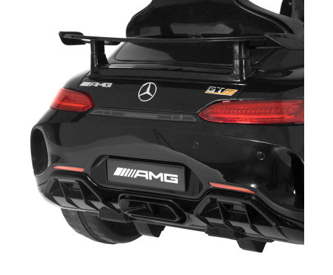 Kids Ride On Car Mercedes Benz AMG GT R Electric Black with Free Customized Plate