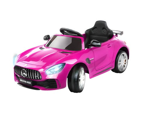 Kids Ride On Car Mercedes Benz AMG GT R Electric Pink with Free Customized Plate