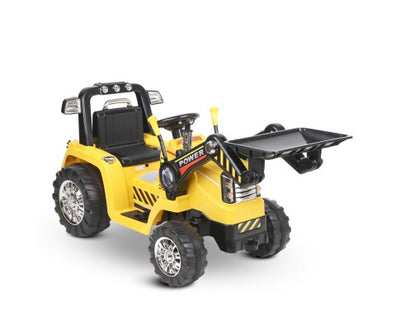 Rigo Kids Ride On Bulldozer Digger Electric Car Yellow with Free Customized Plate