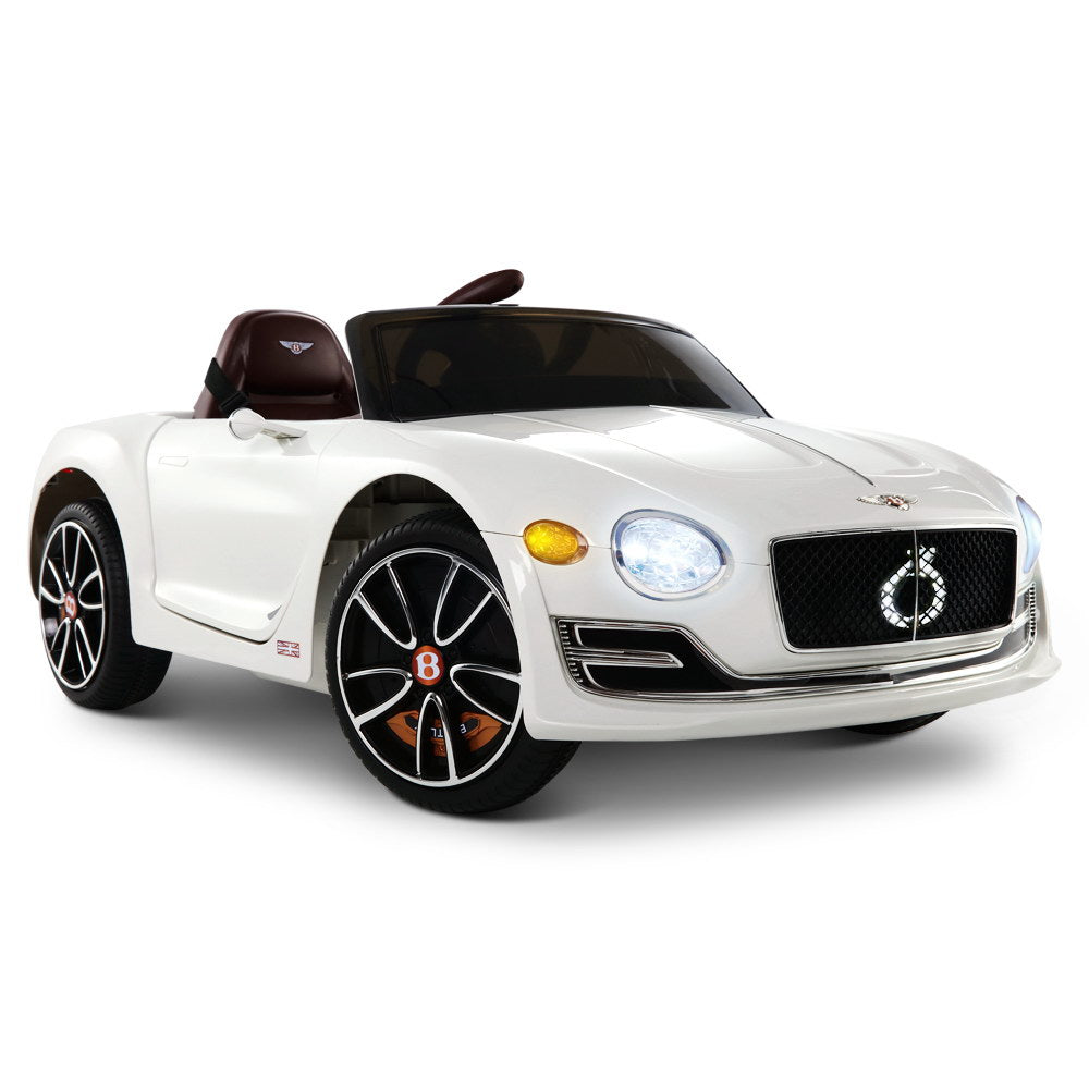 Bentley Style XP12 Electric Toy Car - White - Baby & Kids / Cars - Kids Toys Warehouse - kidstoyswarehouse