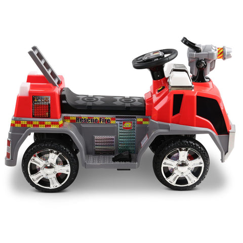 Fire Truck Electric Toy Car - Red & Grey - Ride On - Kids Toys Warehouse - kidstoyswarehouse