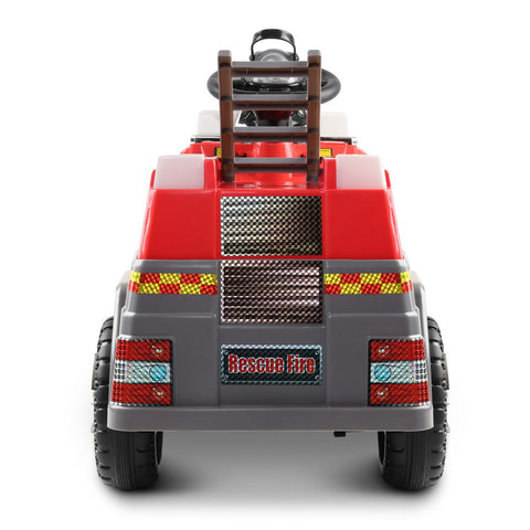 Image of Fire Truck Electric Toy Car - Red & Grey - Ride On - Kids Toys Warehouse - kidstoyswarehouse