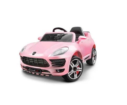 Rigo Kids Ride On Car (Porsche Macan Replica) - Pink with Free Customized Plate