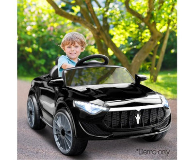 Rigo Kids Ride On Car (Maserati SUV Replica) - Black with Free Customized Plate