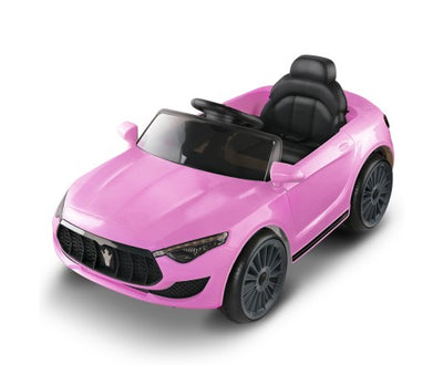 Rigo Kids Ride On Car (Maserati SUV Replica) S Size - Pink with Free Customized Plate