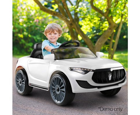 Rigo Kids Ride On Car (Maserati SUV Replica)- White with Free Customized Plate