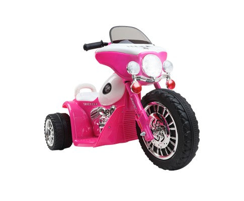 Rigo Kids Ride On Motorbike Motorcycle Toys (Harley Davidson Replica) Pink
