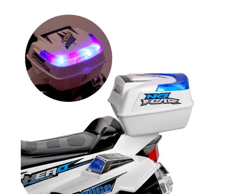 Rigo Kids Ride On Motorbike Motorcycle Car White with Free Customized Plate