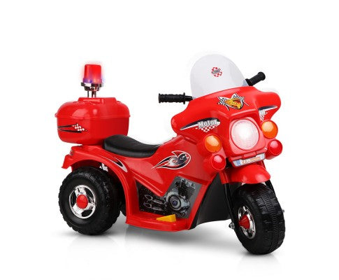 Rigo Kids Ride On Motorbike - Red with Free Customized Plate