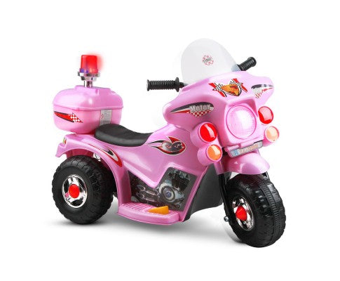 Rigo Kids Ride On Motorbike Motorcycle Toy Pink with Free Customized Plate