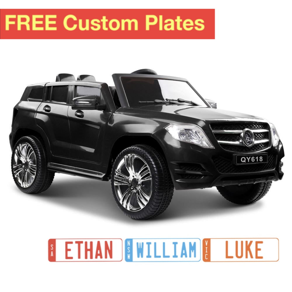 Rigo Kids Ride On Car (Mercedes Benz ML450 Replica)  - Black with Free Customized Plate
