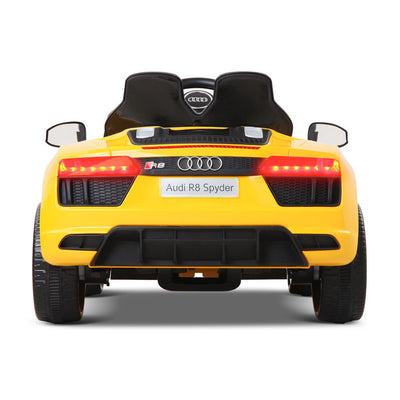 Rigo Kids Ride On (Audi R8 Replica) - Yellow with Free Customized Plate