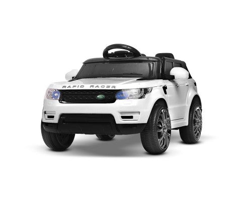 Rigo Kids Ride On Car (Range Rover Replica)- White with Free Customized Plate