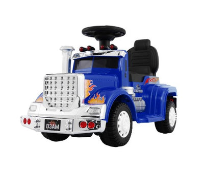 Rigo Kids Ride On Truck Electric Toys - Blue with Free Customized Plate