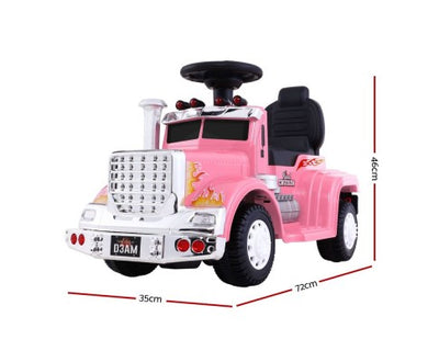 Rigo Kids Ride On Truck Electric Toys - Pink with Free Customized Plate