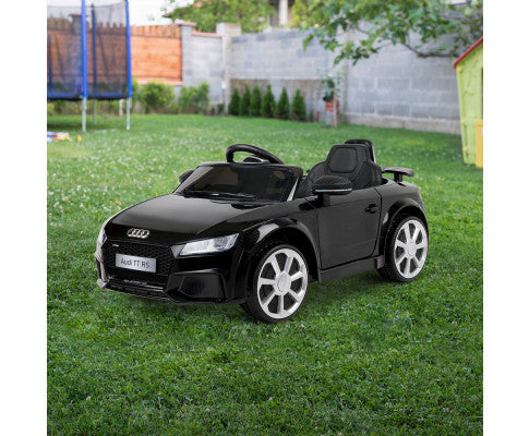 Kids Ride On Car Audi Licensed TT RS Black with Free Customized Plate