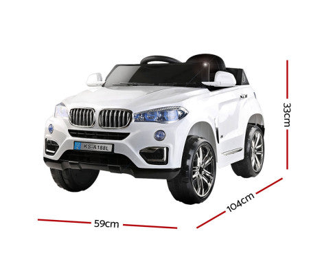 BMW Style X5 Electric Toy Car - White - Baby & Kids / Cars - Kids Toys Warehouse - kidstoyswarehouse