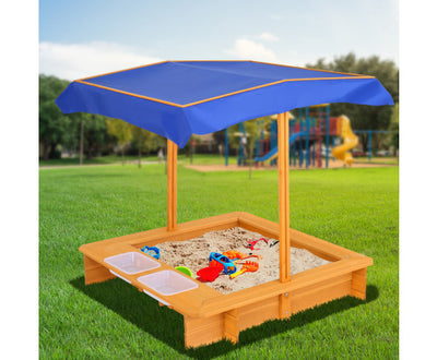 Outdoor Canopy Sand Pit by Keezi