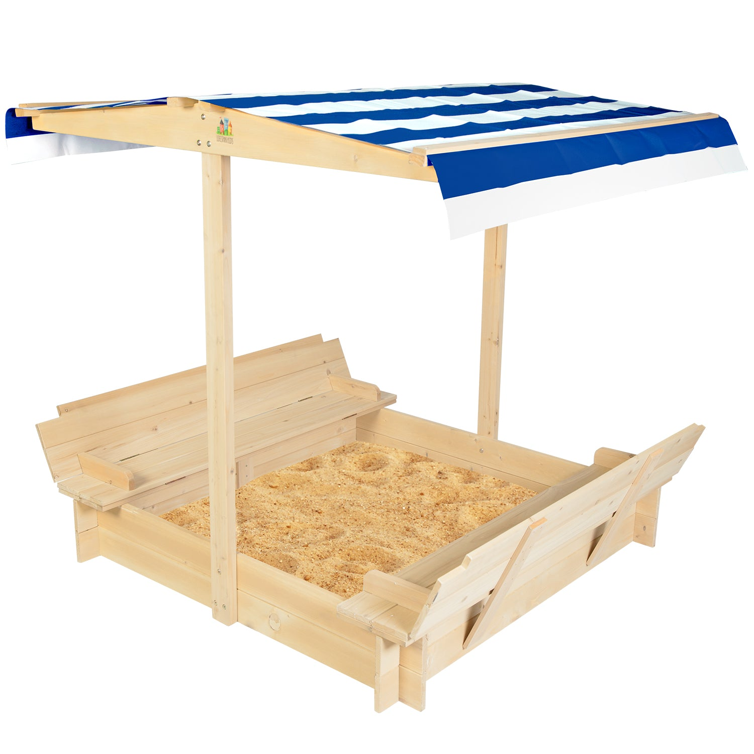 Lifespan Kids Skipper 2 Sandpit with Blue & White Canopy
