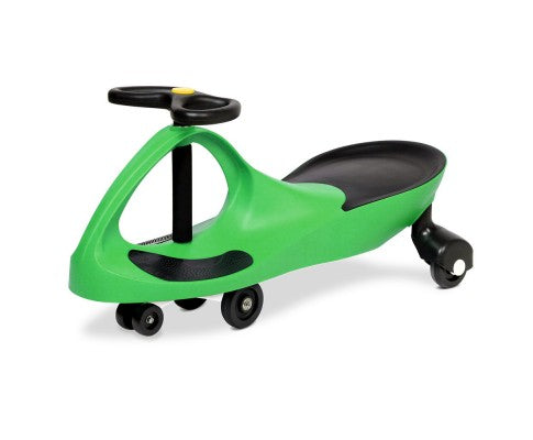 Kid's Ride On Wiggle Scooter Swing Car -Green