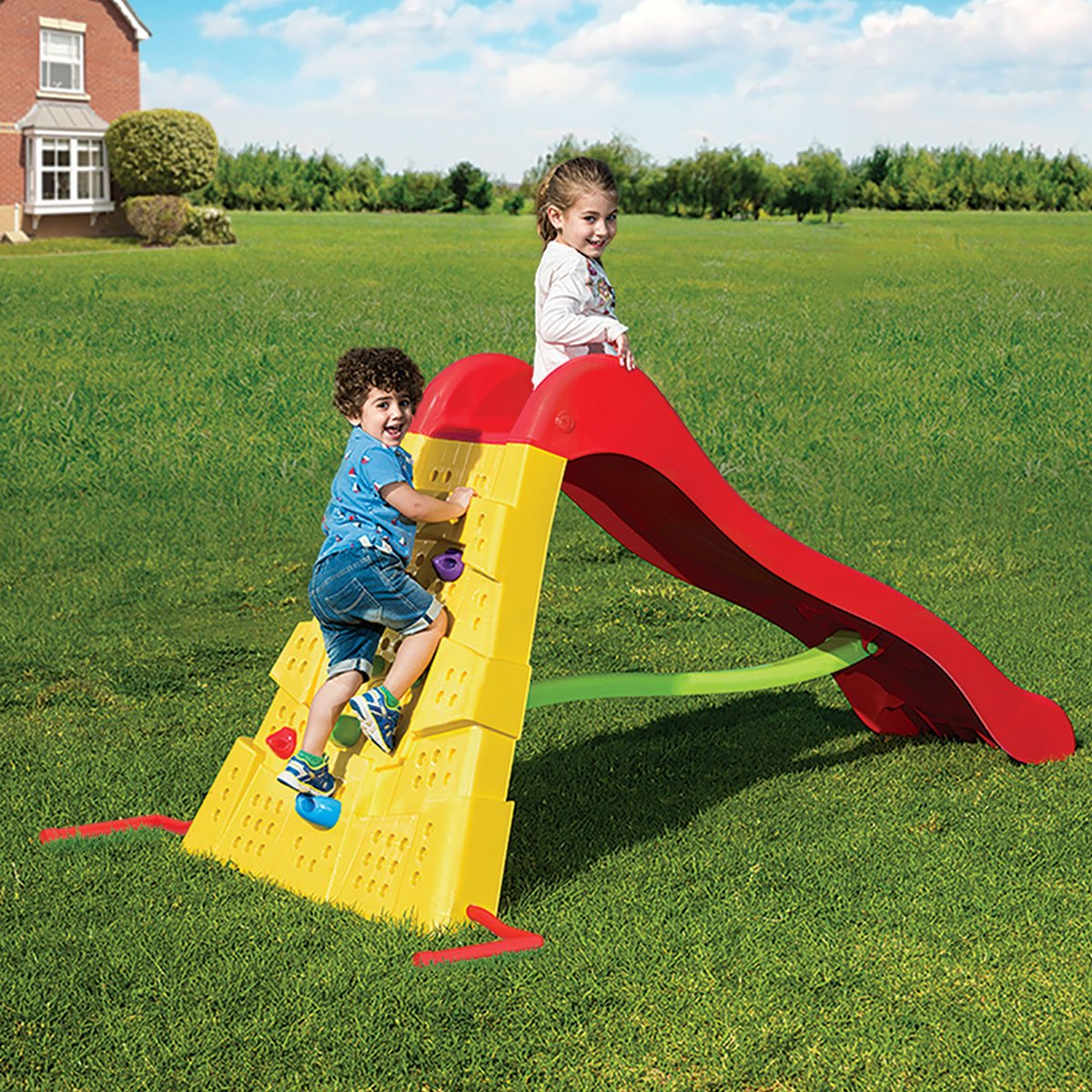 Starplast Starplay Climbing Wall and Slide