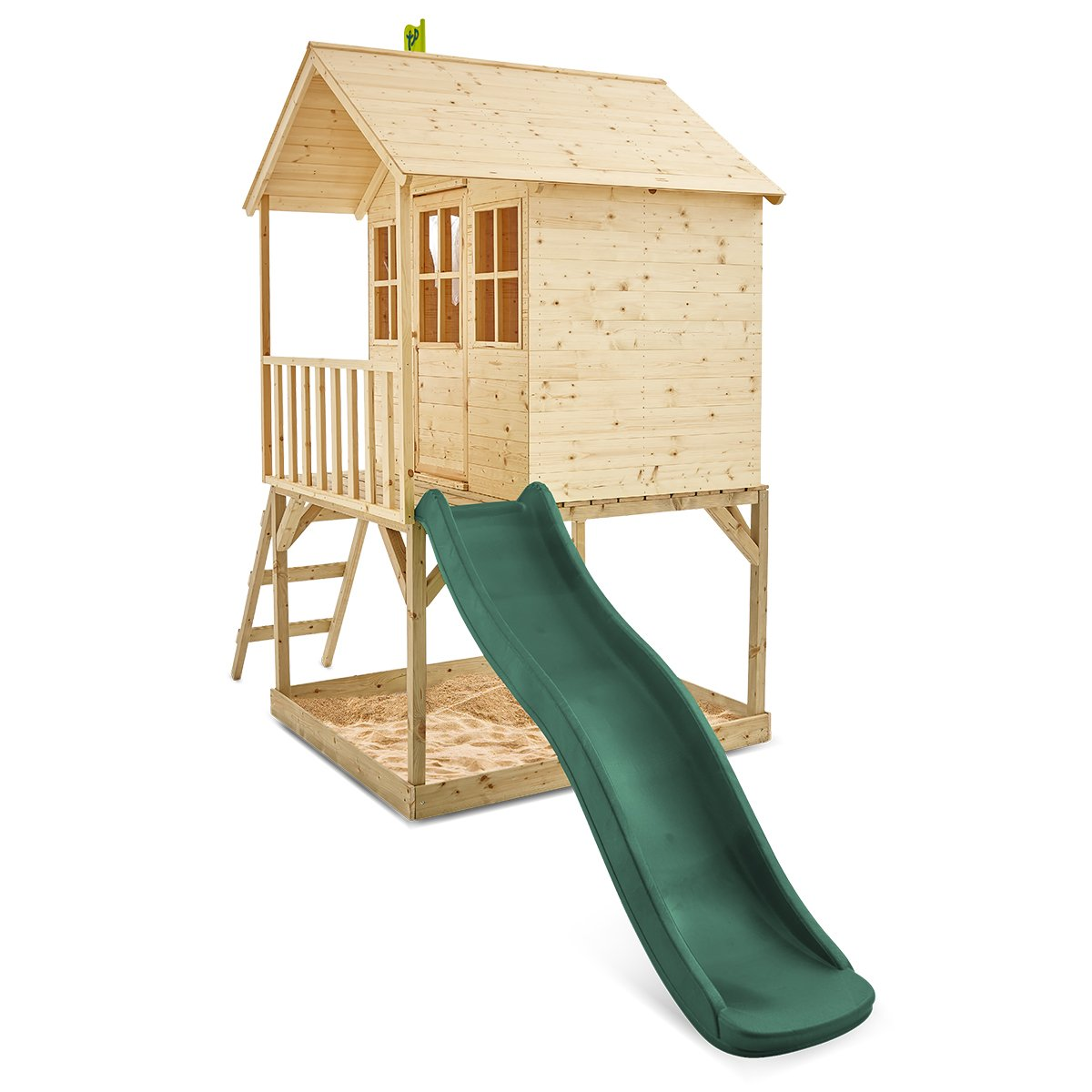 TP Toys Hill Top Wooden Tower Playhouse with 1.8m Slide